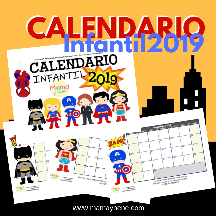CALENDARIO-2019-MAMAYNENE-FREEBIES-IMPRIMIBLES-SUPERHEROES