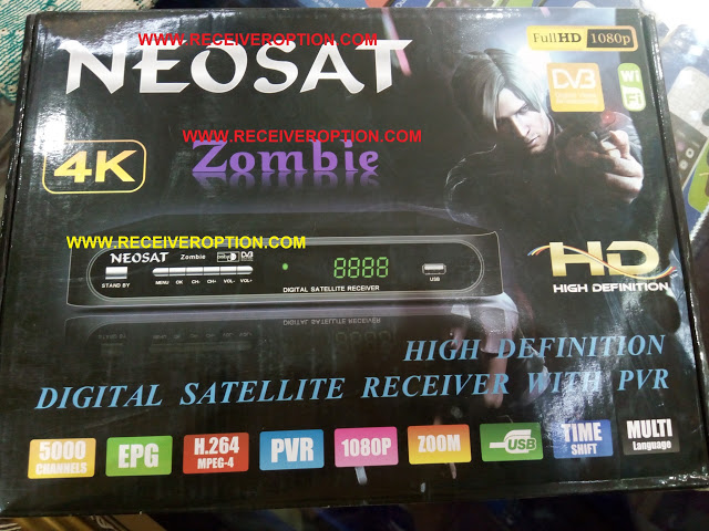 OLD MODEL NEOSAT ZOMBIE HD RECEIVER BISS KEY OPTION