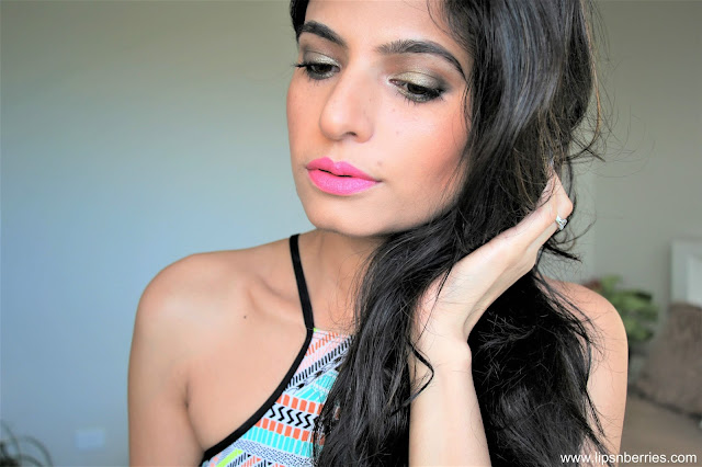 Loreal candy stilleto lipstick on indian skin