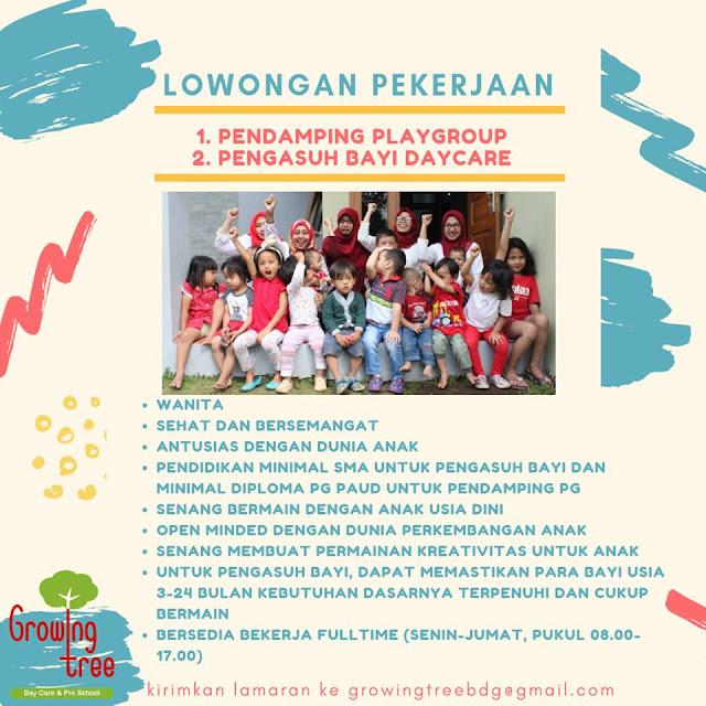 Lowongan Kerja Growing Tree Bandung