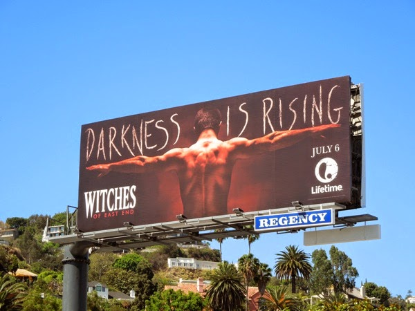 Darkness is rising Witches of East End season 2 billboard