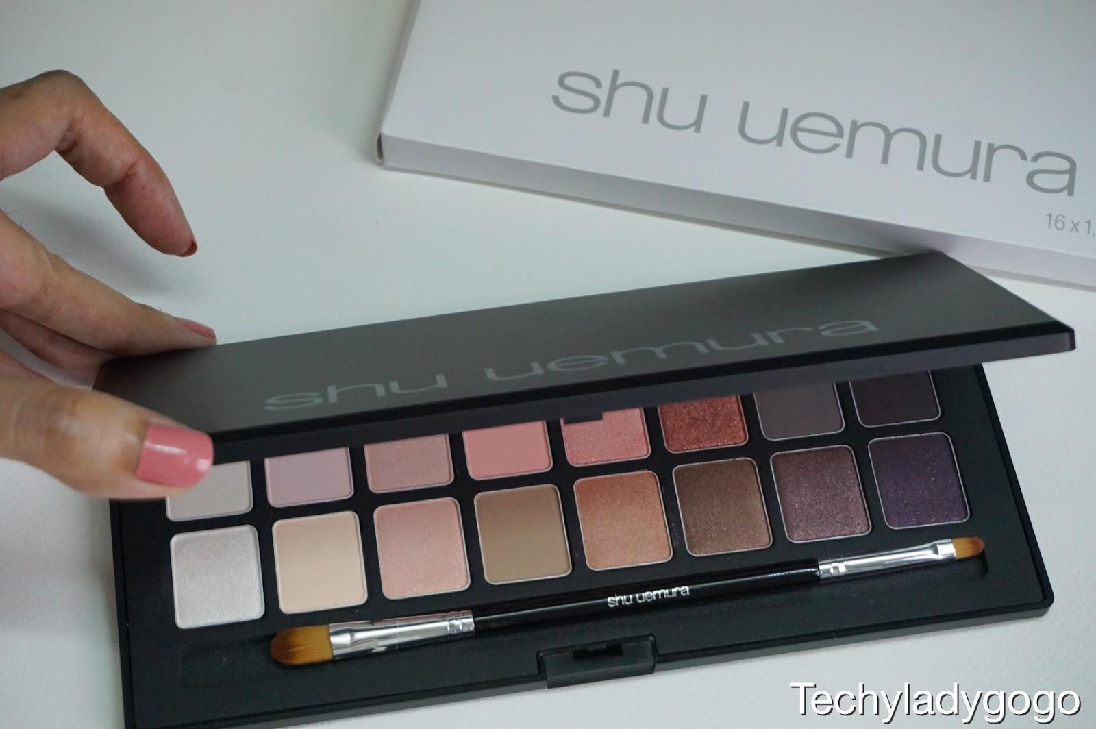 SHU UEMURA Blushing Beige Eyeshadow Palette พาเลทอายแชโดว์ระดับพรีเมี่ยมสุดคุ้ม