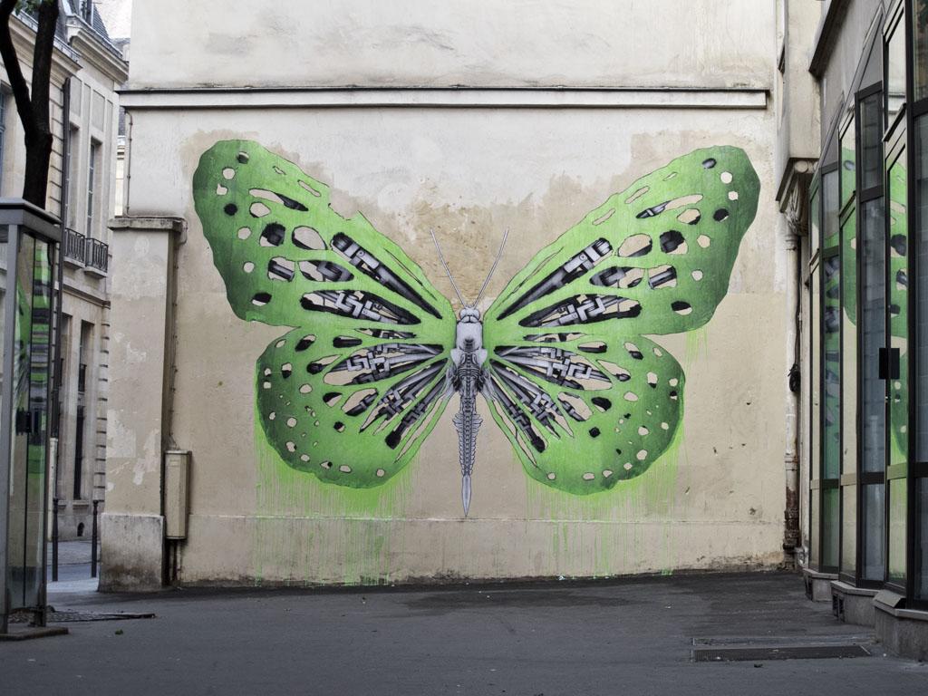 ludo new mural in paris france streetartnews streetartnews. Black Bedroom Furniture Sets. Home Design Ideas