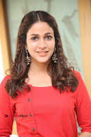 Actress Lavanya Tripathi Latest Pos in Red Dress at Radha Movie Success Meet .COM 0142.JPG