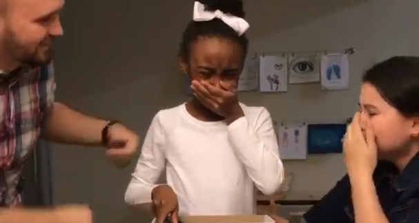 Touching Video Depict Little Girl's Reaction When She Finds Out She Will Be Adopted