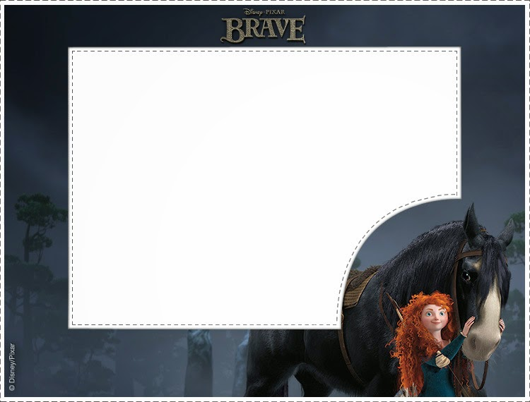 brave party  free printable photo frames  cards or invitations