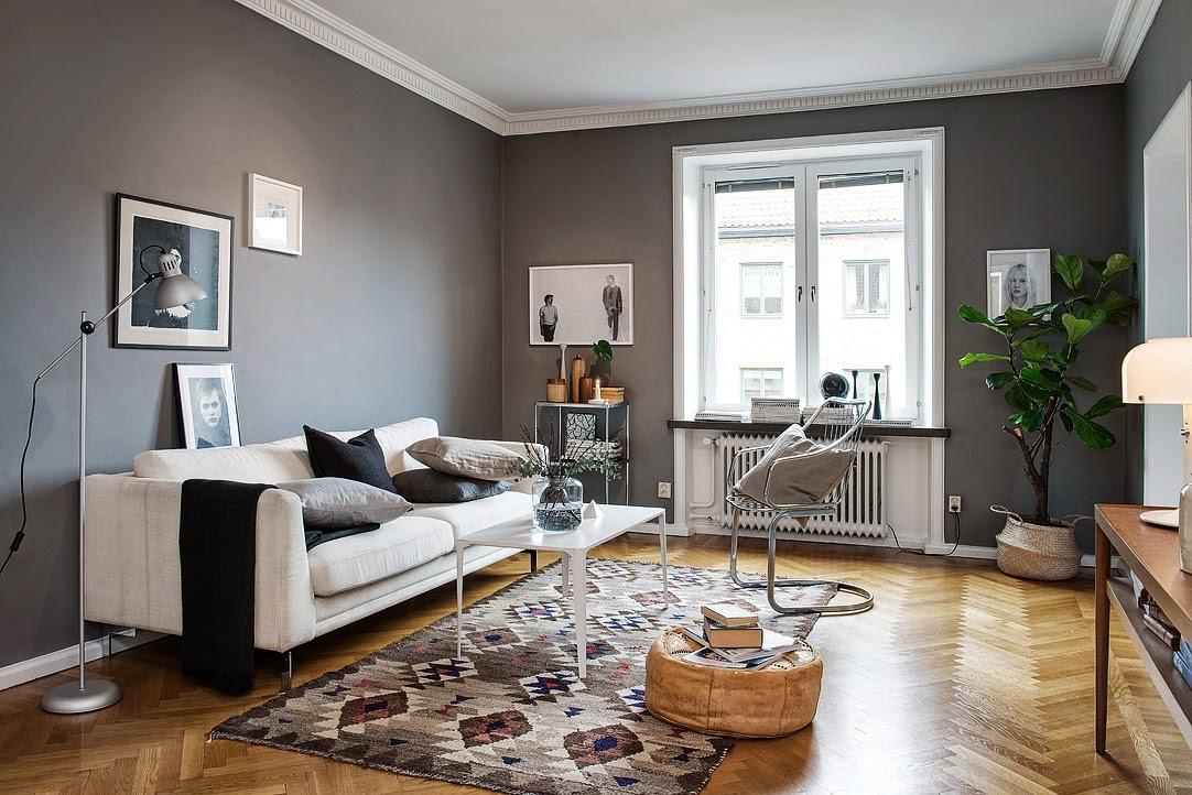 Amenajare n gri ntr un apartament de 63 m jurnal de - Muebles grises paredes color ...