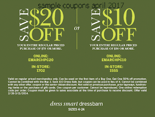 Dress Barn coupons april