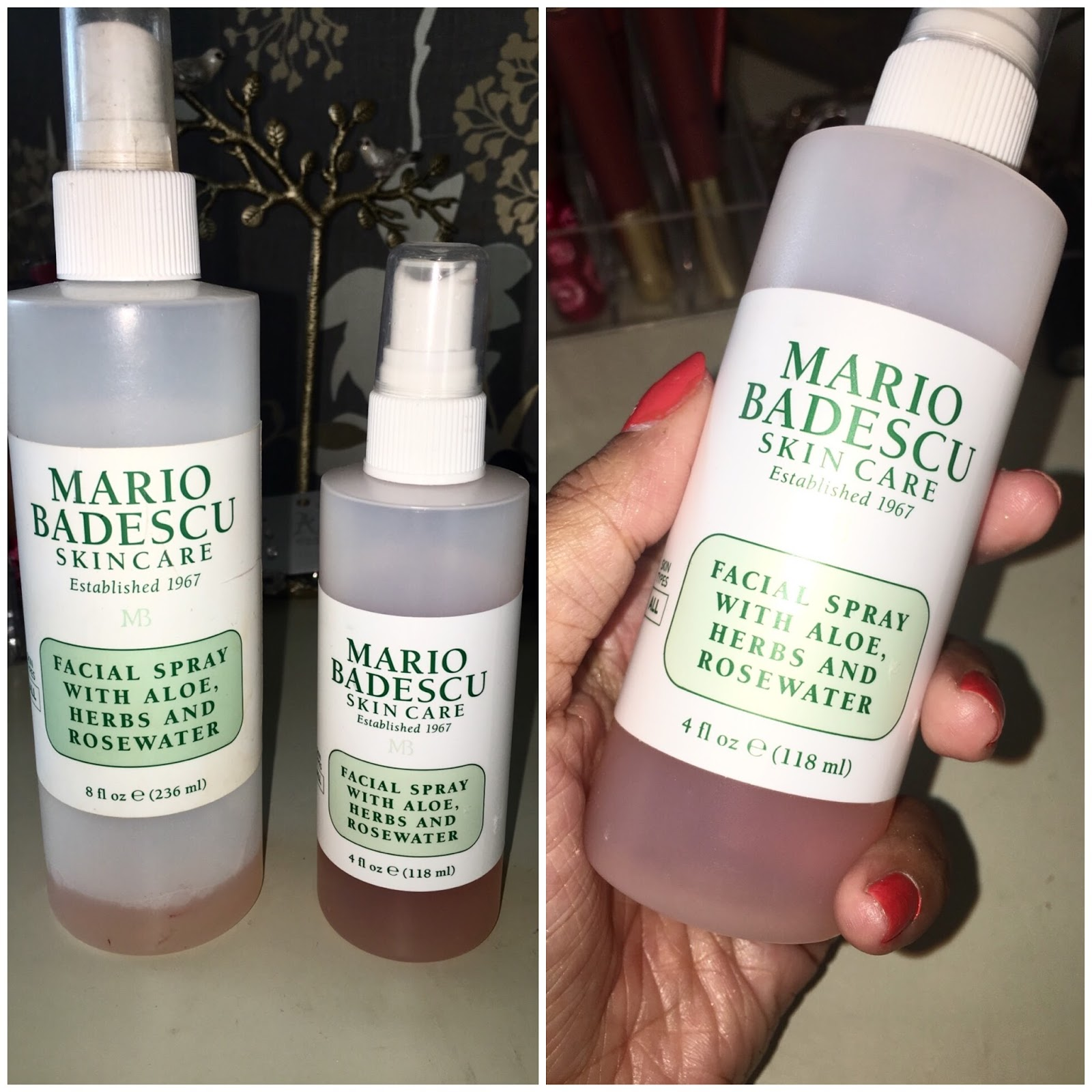 Review Mario Badescu Facial Sprays Rhia Kaur