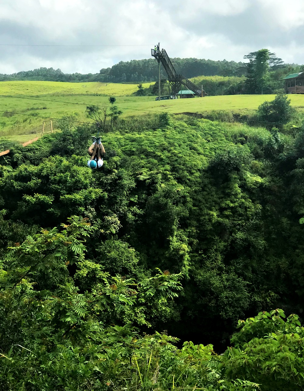 zipline tour of umauma falls in hilo