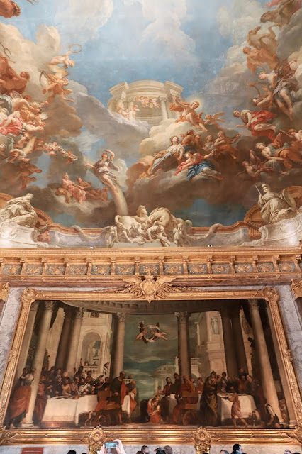 Beautiful paintings at the Palace of Versailles