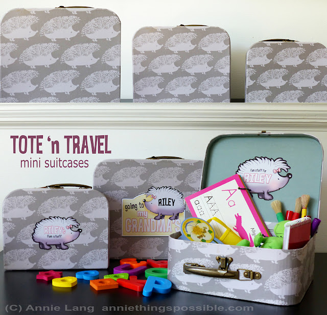 Annie Lang shares creative ideas to decorate a child's tote set with vinyl cutouts using a silhouette portrait electronic cutting device