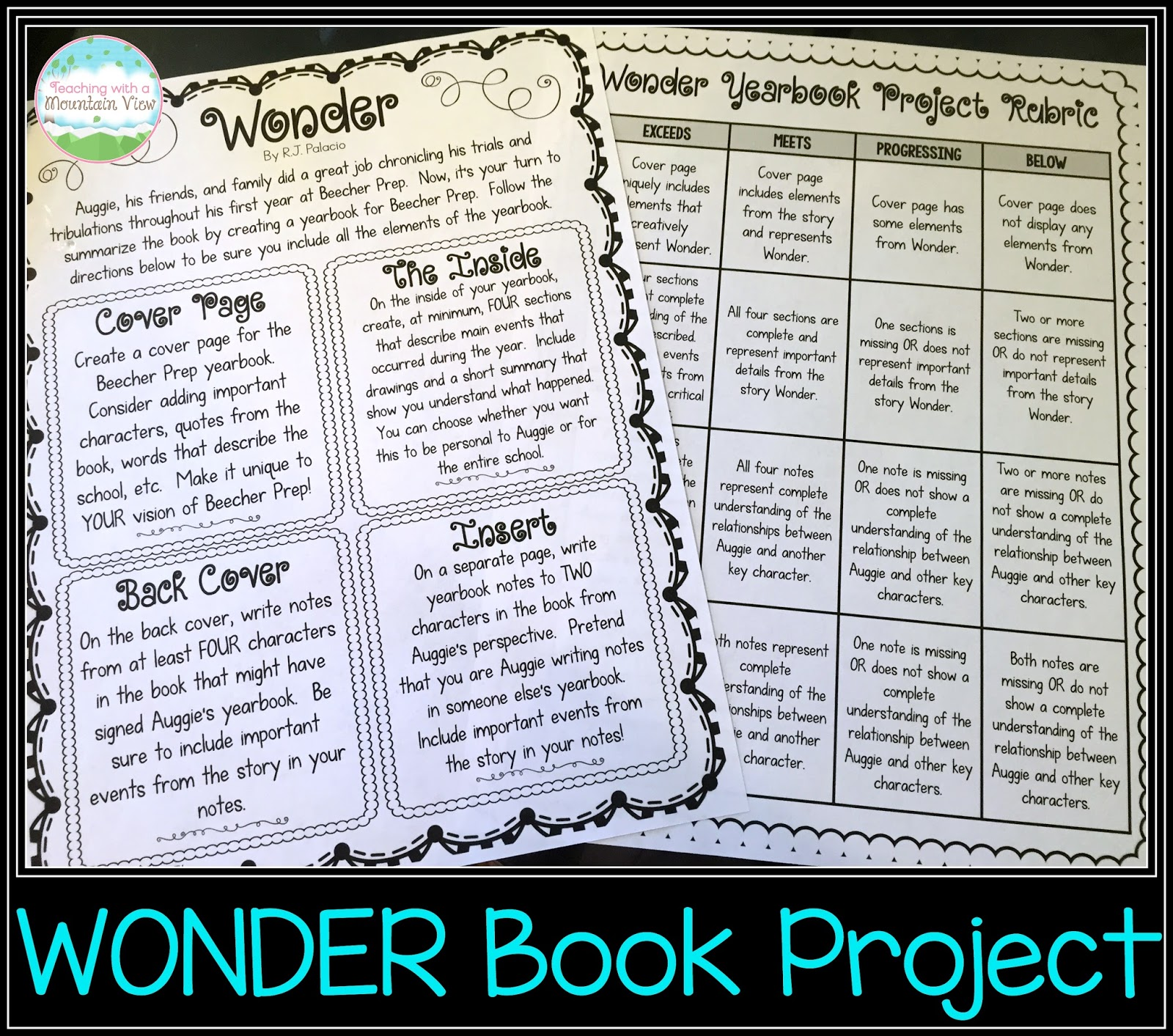 The Main Character Problem: Teaching With A Mountain View: Teaching Story Elements & A