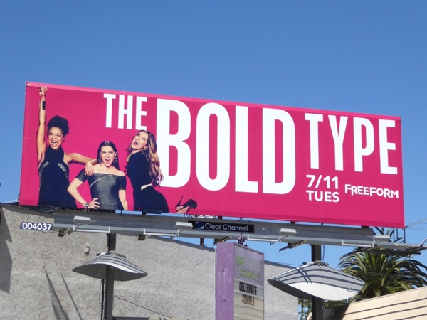 Bold Type series premiere billboard