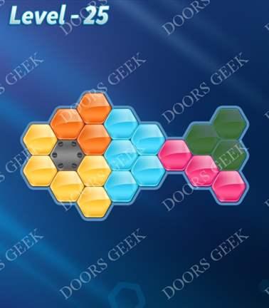 Block! Hexa Puzzle [Rainbow A] Level 25 Solution, Cheats, Walkthrough for android, iphone, ipad, ipod