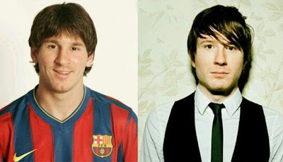 Lionel Messi dan Adam Young