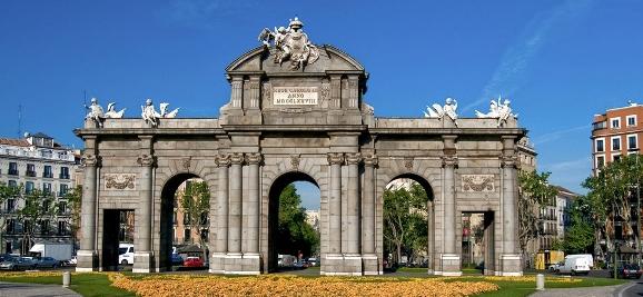 Frontal este de La Puerta de Alcalá