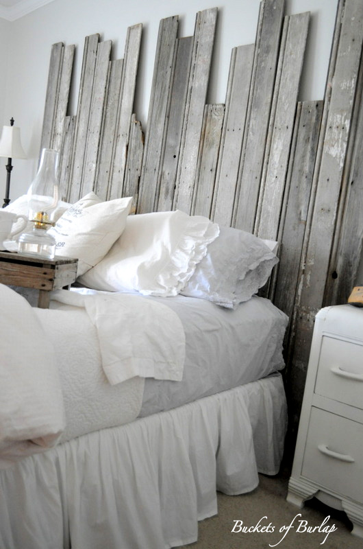 Remodelaholic | Master Bedroom With DIY Rustic Barn Wood Headboard on bedroom decorating with paper, bedroom decorating with lace, wall decor with burlap, bedroom decorating with flowers, living room with burlap, bedroom decorating with cream, bedroom decorating with paint, bedroom decorating with plants, bedroom decorating with ivory, bedroom decorating with bling, bedroom decorating with toile, bedroom decorating with brown, bedroom decorating with silver, accent table runner burlap, diy with burlap, bedroom decorating with candles, pillows with burlap, bedroom decorating with birds, candles with burlap, bedroom decorating with brass,