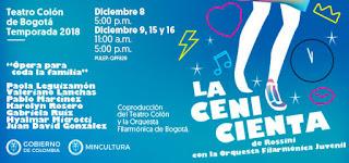 Opera LA CENICIENTA en Bogotá