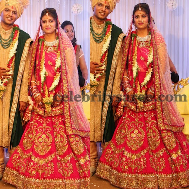 Real Bride in Pink Lehenga