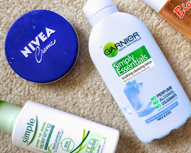 Products That Never Get Will Never Leave My Collection, Skincare Basics, nivea, garnier, simple, biooil, cleanser, moisturiser, oil, lotion