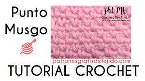 Cómo tejer el punto musgo a crochet / Tutorial