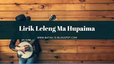 Lirik Leleng Ma Hupaima