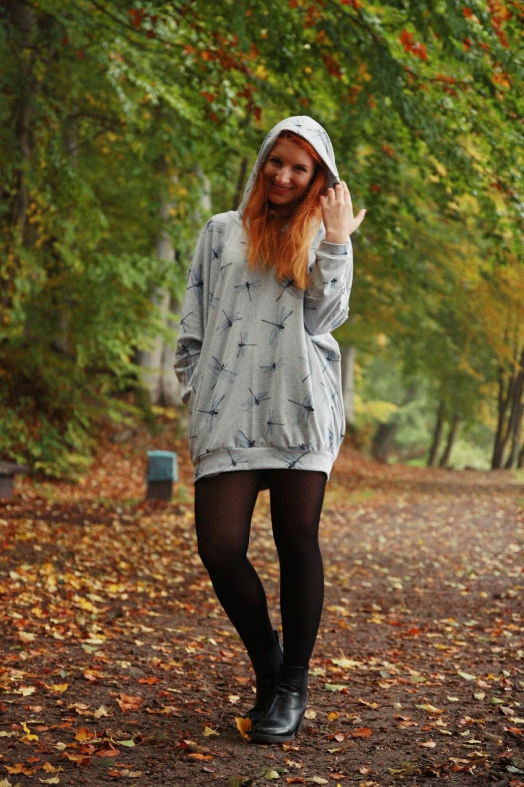 Bluza oversize w ważki- stylizacja
