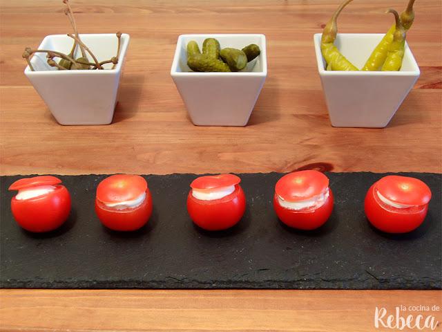 Tomates cherry rellenos