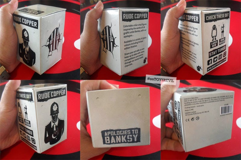"RUDE COPPER BLACK 4/"" VINYL ART TOY FIGURE APOLOGIES TO BANKSY"