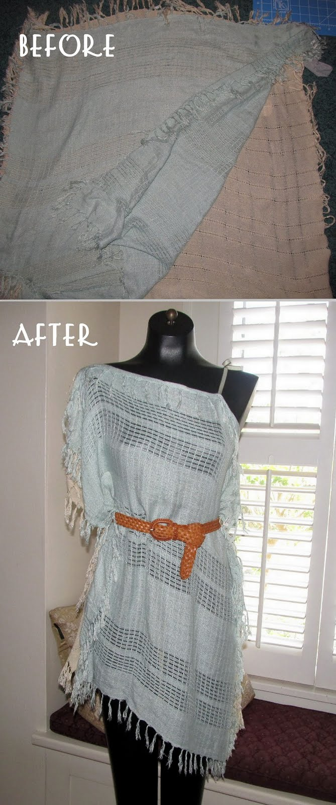 Cómo hacer un vestido corto con dos pañuelos ~ Olvídate de la crisis