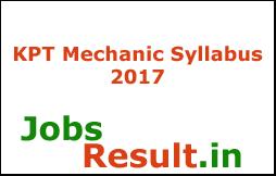 KPT Mechanic Syllabus 2017