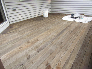 Before image of 1st floor deck before painting.