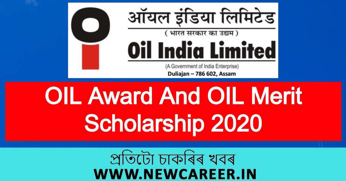 OIL Award And OIL Merit Scholarship 2020 – Online Application
