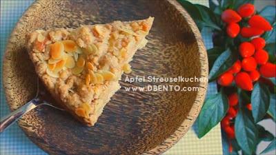 cara membuat kue jerman apel streusel