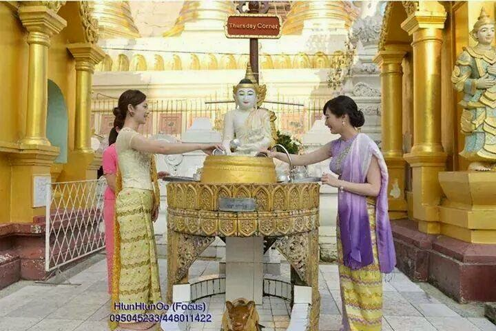 Japanese Actresses Yuko Fueki and Rina Takeda Pay A Visit To Shwedagon Pagoda