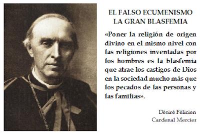 Resultado de imagen para el falso ecumenismo
