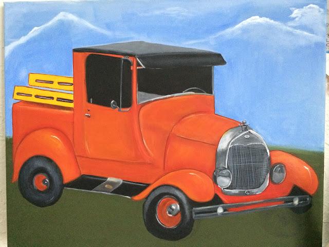#orangeford #ford #classicford #classicpickup #cynthiar #artedonypasion #cynthiablogcostarica