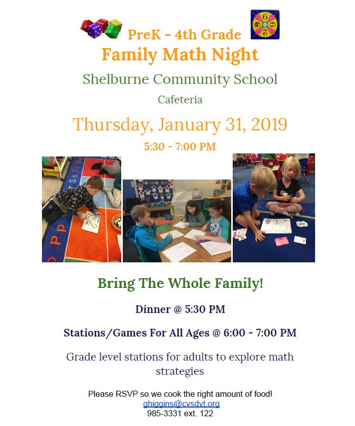 b324c52ea7 PreK-4 Family Math Night --- January 31st
