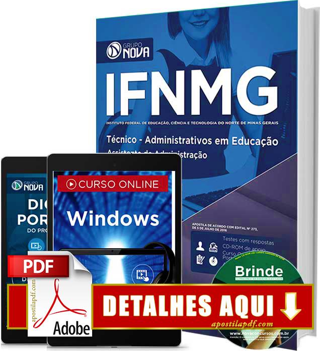 Apostila IFNMG 2016 Assistente em Administração Impressa
