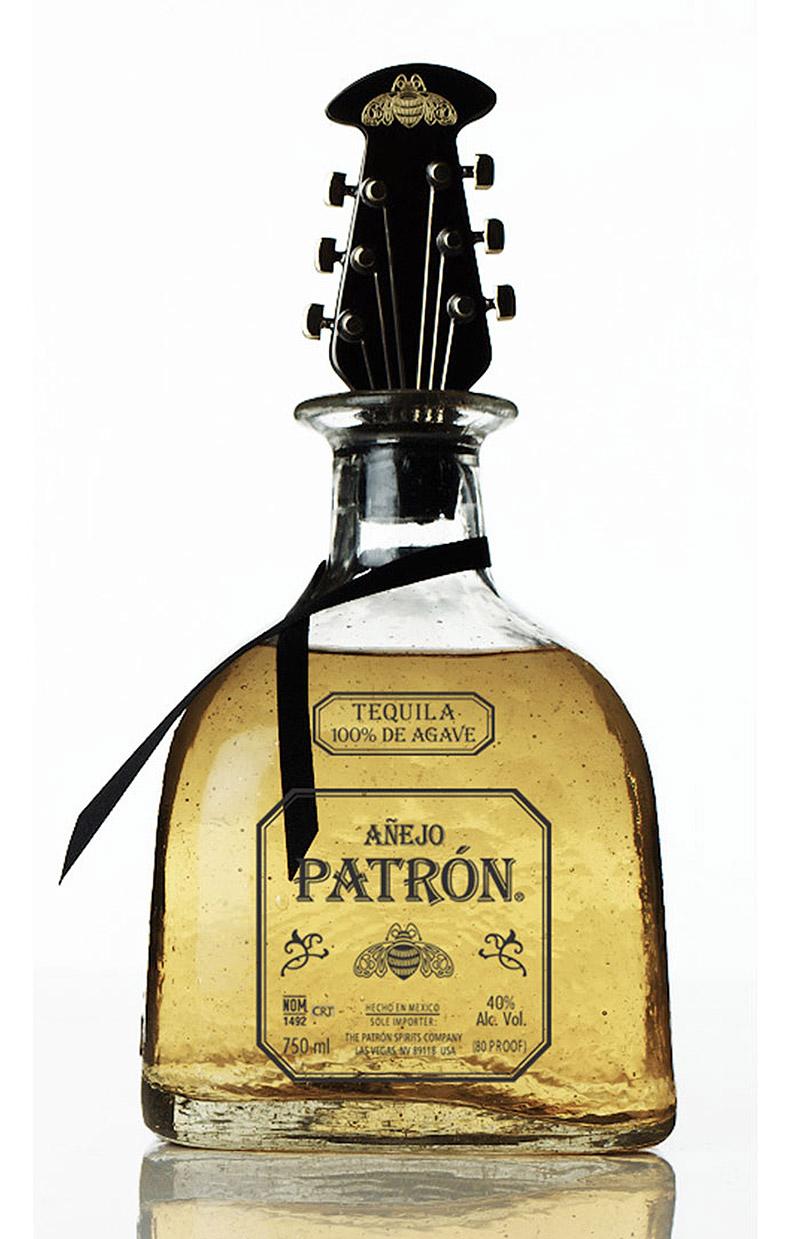 Patrón Añejo Holiday 2012 Guitar Bottle Stopper by John Varvatos
