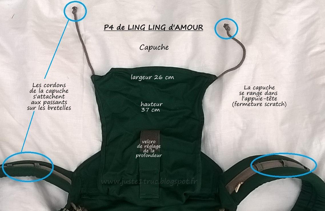 1bb6e7273163 capuche du préformé P4 de Ling Ling d amour test avis portage porte-bébé
