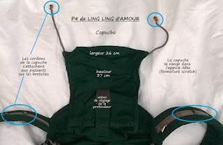 capuche du préformé P4 de Ling Ling d'amour test avis portage porte-bébé LLA