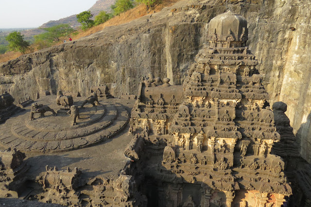 Aerial View of Kailash, Cave 16, Ellora Caves