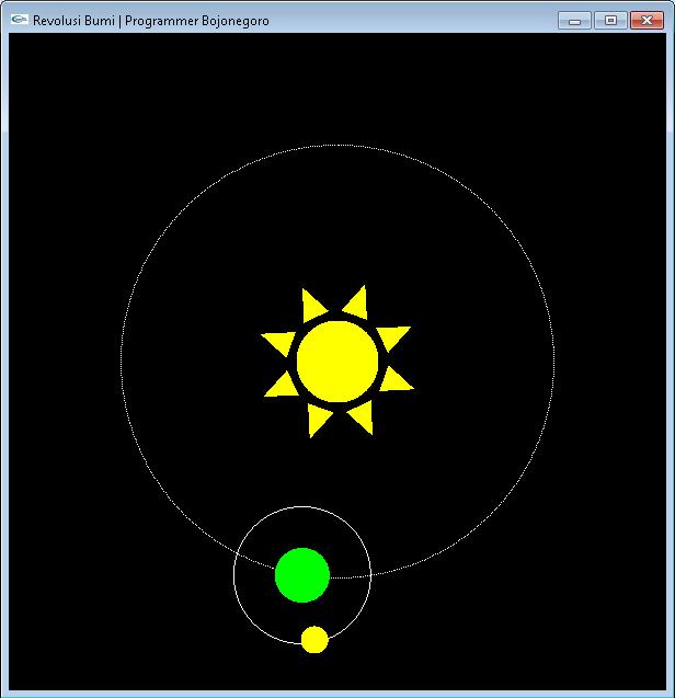 Membuat Animasi Revolusi Bumi Terhadap Matahari Dengan OpenGL Menggunakan CodeBlocks