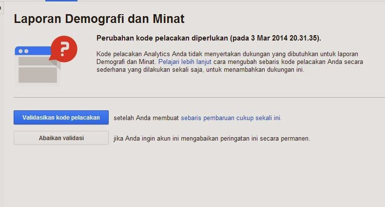 Validasi Laporan Demografi Google Analytics