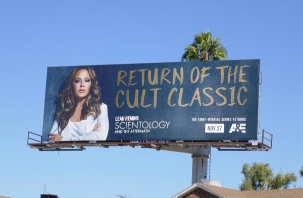 Leah Remini Scientology Aftermath season 3 billboard