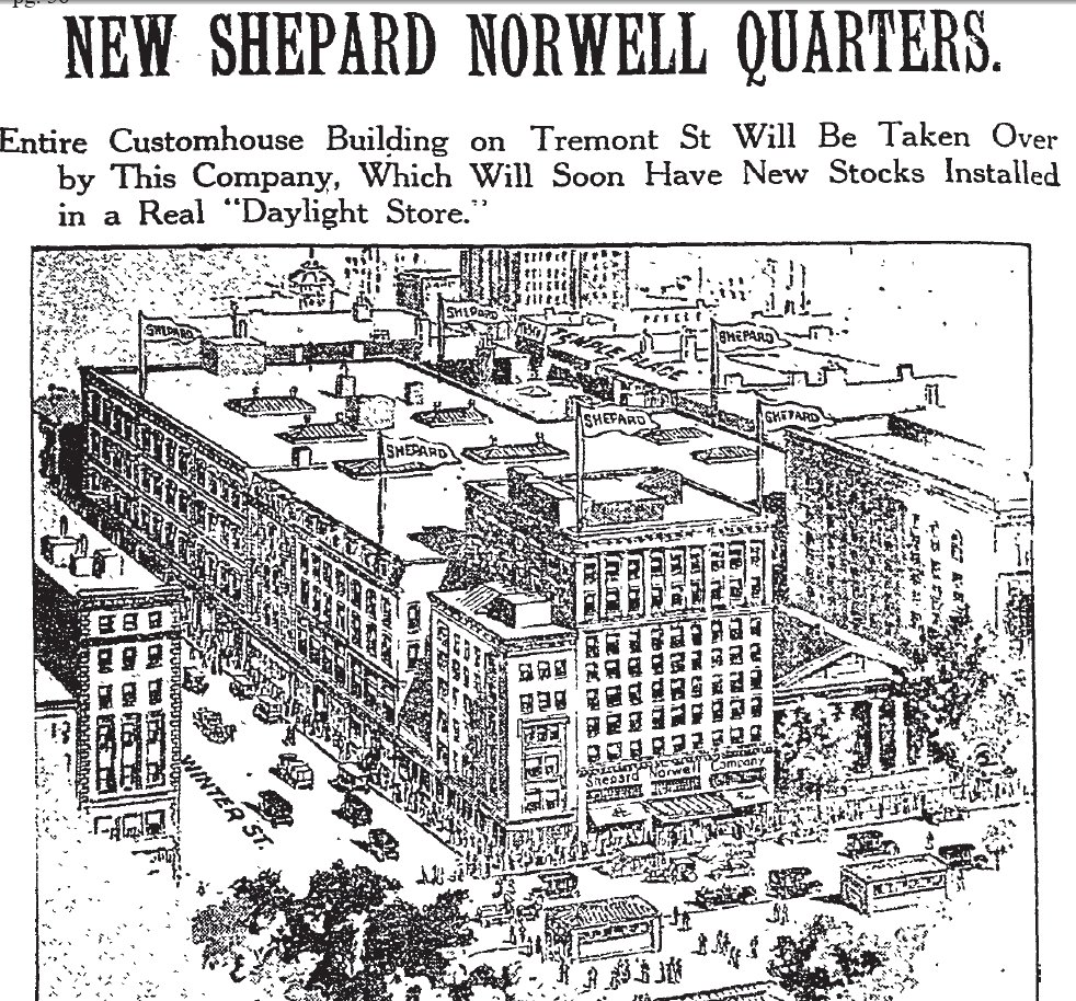 Shopping Days In Retro Boston: The Shepard Stores In