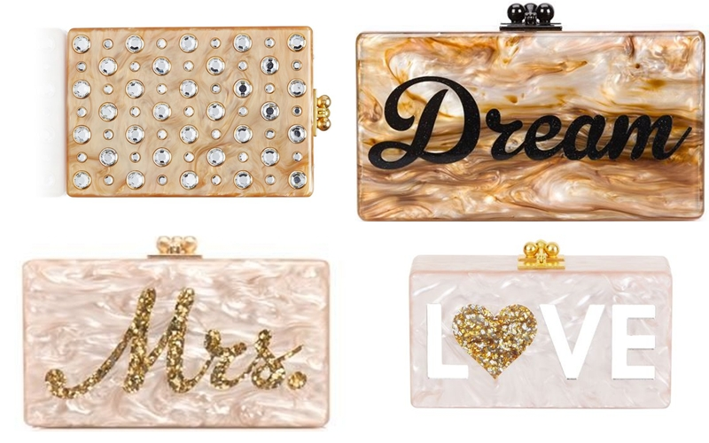 Edie Parker Love Dream Mrs. acrylic clutches
