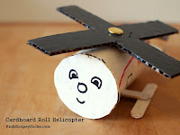 make a cardboard roll helicopter